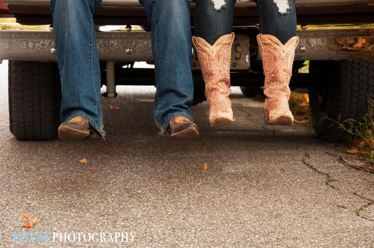 These engagement photos had a country feel - just outside of town in Coldwater, ON.. The cowboy boots were essential!  Fitchphotography.com