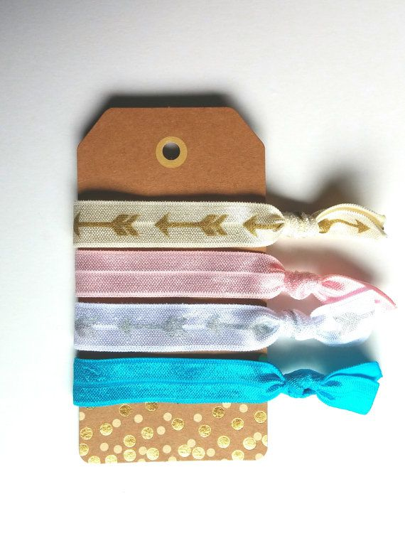 Cute elastic hair ties that would make the PERFECT Christmas stocking stuffer. Handmade item by Grey Serenity Jewelry available on Etsy https://www.etsy.com/listing/251844532/hair-tie-bracelet-ribbon-hair-tie