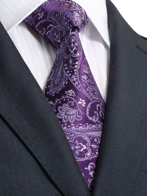 Gentlemen: #Gentlemen's #fashion ~ Landisun Paisleys Men's Silk Neck Tie.