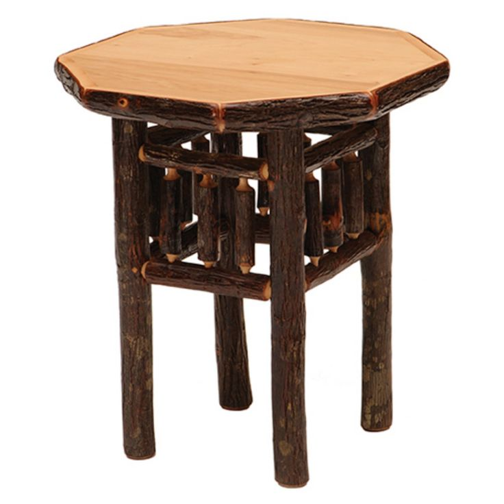 Fireside Lodge Furniture Hickory Octagon End Table - 84050