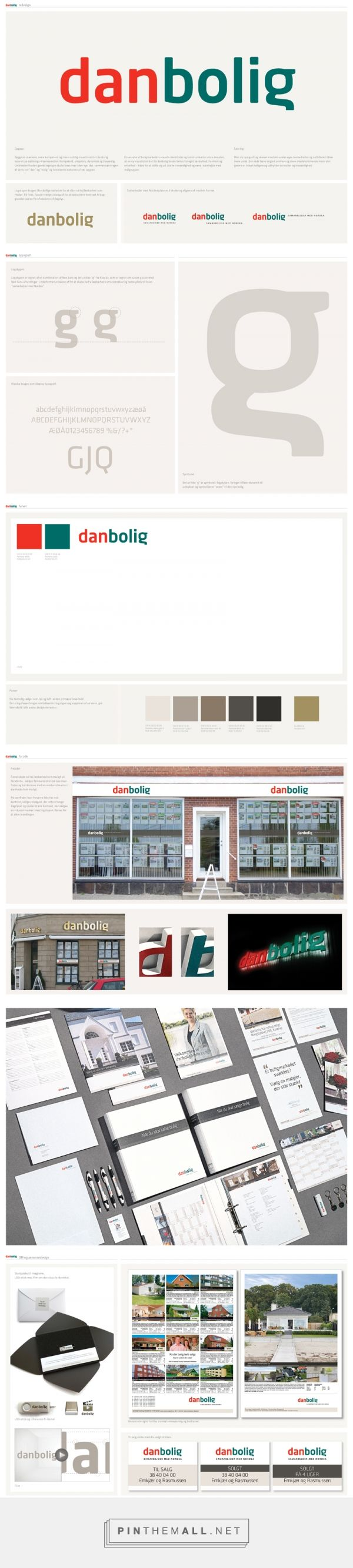 danbolig real estate visual identity on Behance - created via http://pinthemall.net