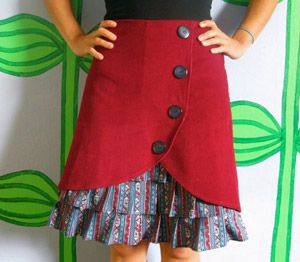 Several unique skirt variations, would make really cute little girls skirts