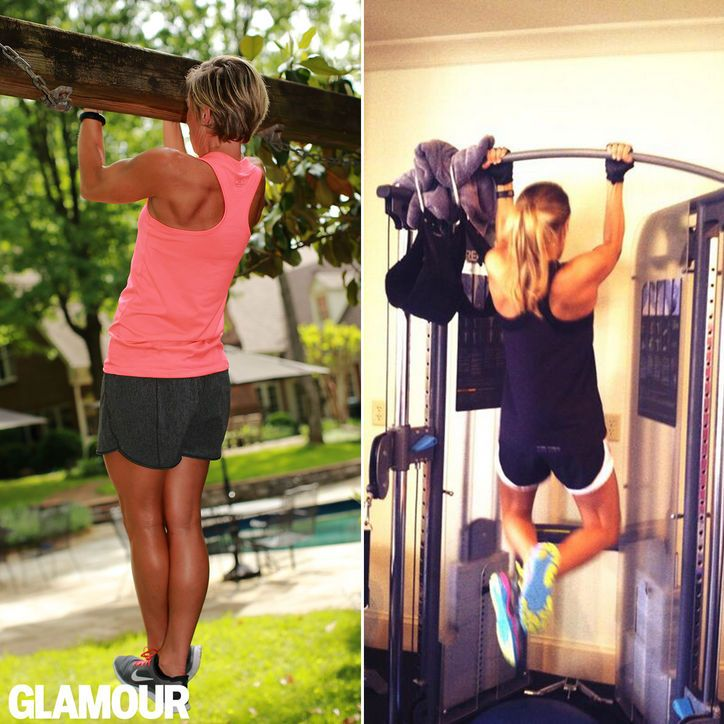 Carrie Underwood's arm workout: Chin-ups