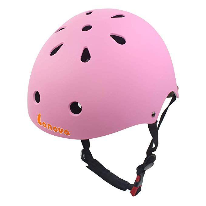 Lanovagear Toddler Kids Adjustable Skateboard Helmet Cpsc Certified Impact Resistance Ventilation For Multi Sports Cycling R Kids Helmets Helmet Bicycle Helmet