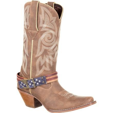 Durango Crush Women's Flag Accessory Western Boots DRD0208