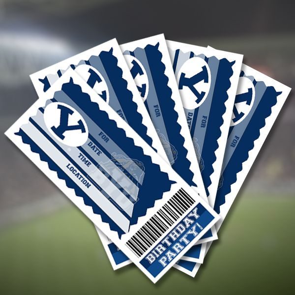 BYU Cougars Party Ticket Invitations