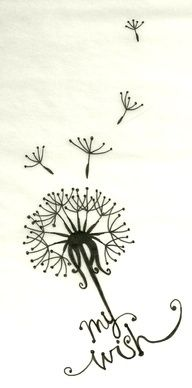 LOVE this idea for a tattoo where each little flyaway represents your children - easy to add on.