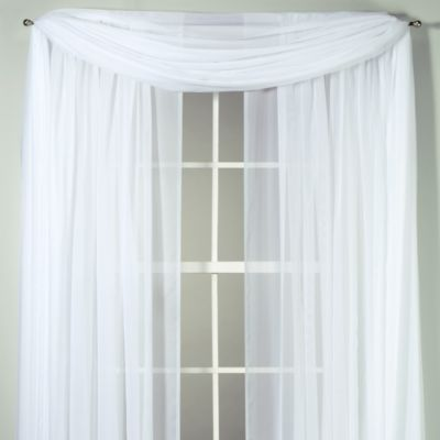 Voile Sheer Scarf and Drapery Panels to make a DIY pipe and drape backdrop for the wedding