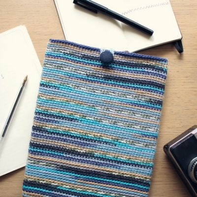 Crochet an iPad Sleeve in Self-Striping Yarn