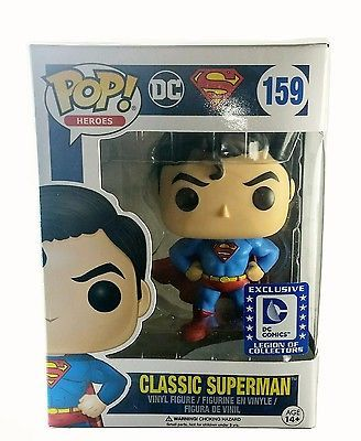 NIB DC Legion of Collectors Exclusive Classic Superman Heroes #159 Pop