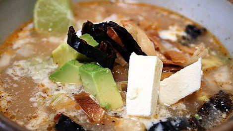 Tortilla soup recipe (sopa de tortilla) : SBS Food