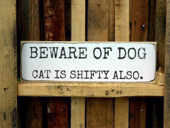 Beware of Dog Wooden Sign 5.5 X 18 by JezebelTreasures on Etsy, $15.99