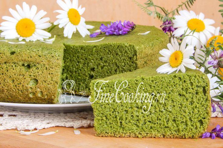 Бисквит со шпинатом - рецепт с фото