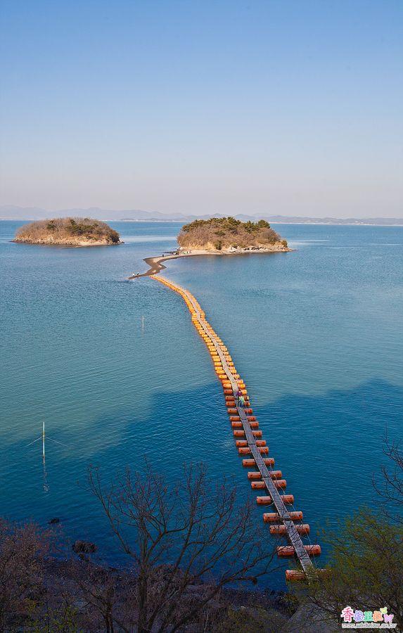 Puente flotante, Corea del Sur                              …