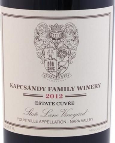 2012 Kapcsándy Family Winery Estate Cuvée State Lane Vineyard
