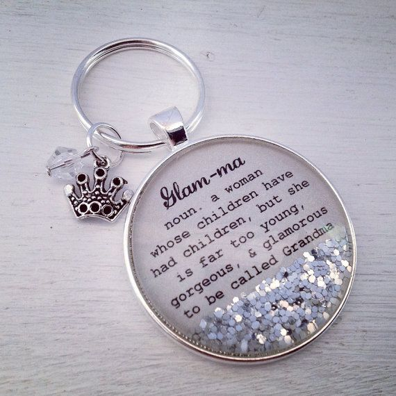 Love this!    Hey, I found this really awesome Etsy listing at https://www.etsy.com/listing/245846729/glam-ma-definition-keychain-grandma