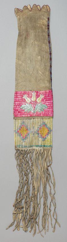 Сумка для табака, Сиу. Южная Дакота,  1885г. Чендлер-Порт.