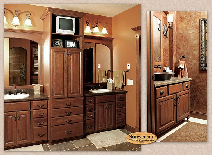 A Small Guest Bath, Shown Above Right, Uses Showplace Carved Feet To Create  The Impression Of Freestanding Furniture.