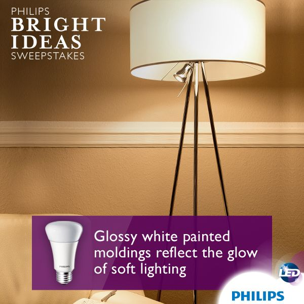 Make Your Formal Living Room A Little More Cozy By Adding Glossy White Moldings And Floor Lamp With Soft LED Bulbs The Will Reflect