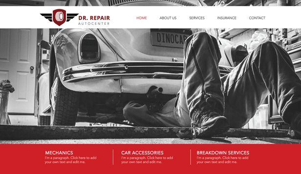 Mechanic Wix Website Template & Theme