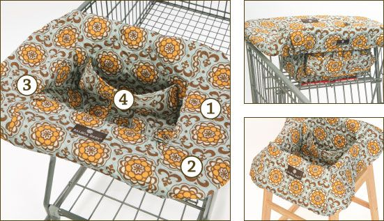 shopping cart baby cover pattern | Machine washable soft quilted material provides a 360 degree germ-free ...
