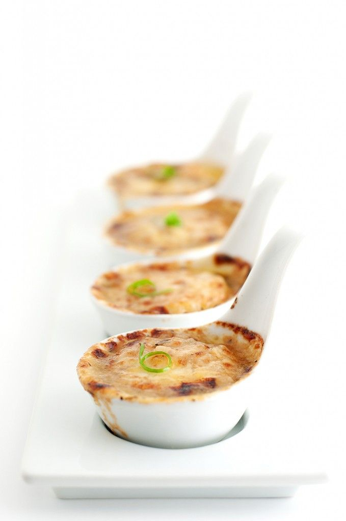 Scallop gratineed with wine, garlic and herbs by Julia Child
