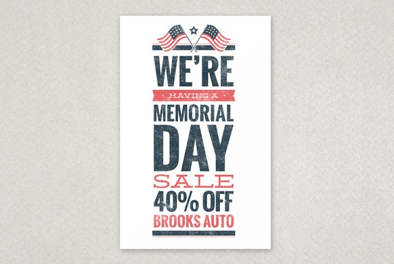 memorial day sale flyers