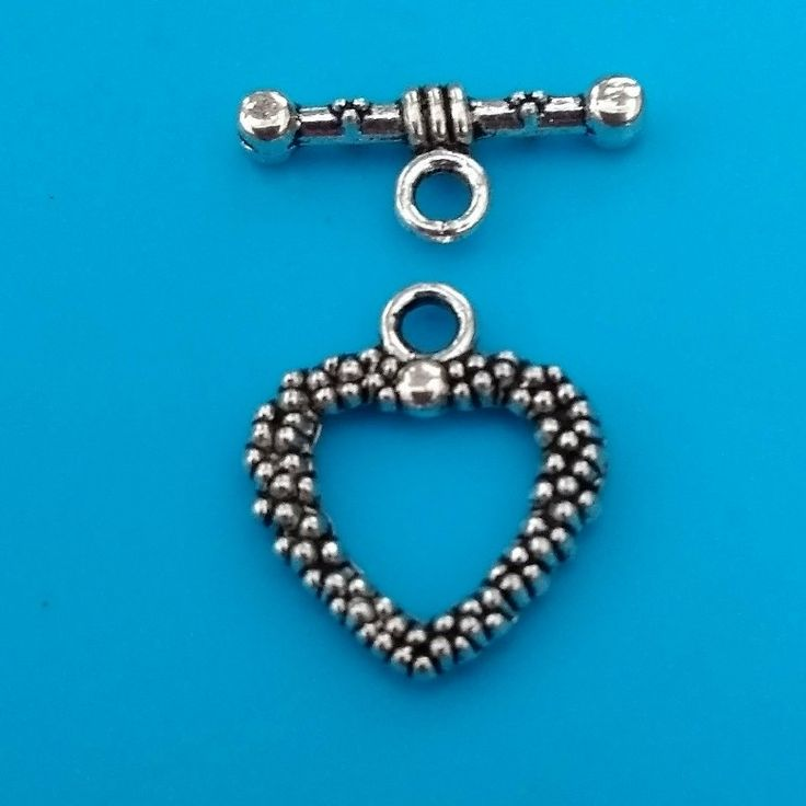 These heart toggle clasps are now available in my #etsy shop. Please take a look. Thanks Fiona. #clasps #jewellerymaking