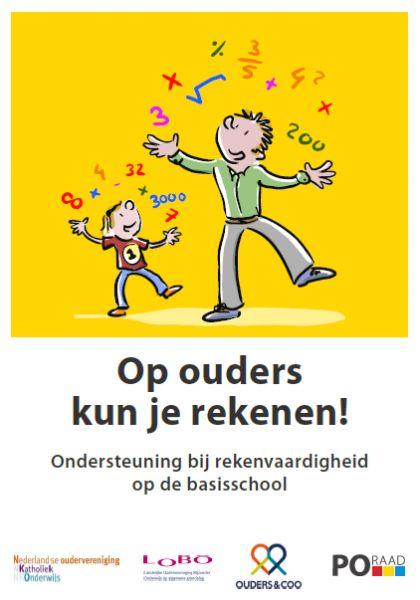 Publicaties | PO-raad, publicatie Rekenen. Wat kunnen ouders doen om te ondersteunen in alledaagse situaties? Wat leert een kind in groep 1/2? 3/4? Enz.