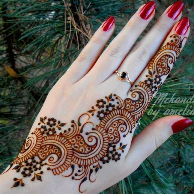 New Arabian and Italian Mehndi designs for bridals 2013-14 brides (10)