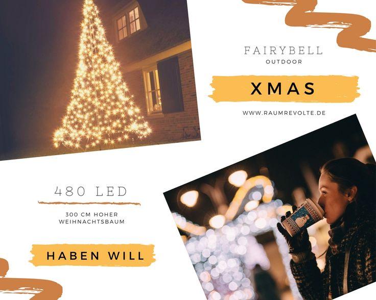 Epic Pr chtige Christbaum Alternative f r Garten u Terrasse LED Weihnachtsbaum cm hoch von