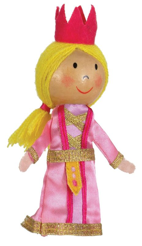 Fiesta Crafts Finger Puppets- Princess