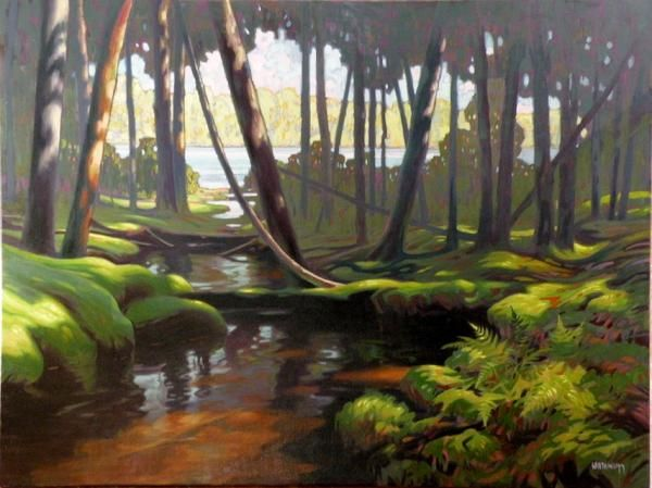 Terry Watkinson - Emerald Creek 36 x 48 Oil on Canvas