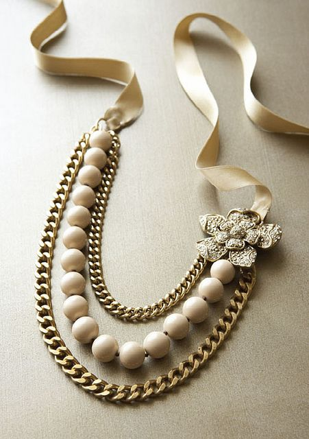 Talbots flower station chain & bead necklace | Flickr - Photo Sharing!
