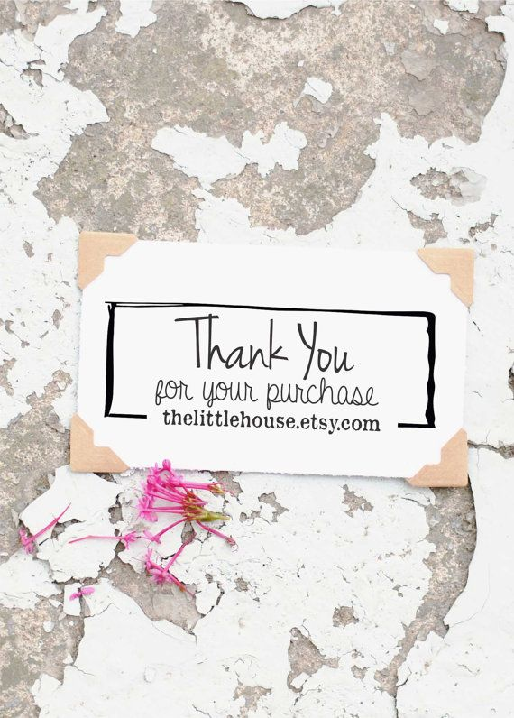 Business Card Stamp, Thank You for Your Business, Business stamp, Packaging Stamp, Custom Business Stamp. Perfect for branding, business cards, and