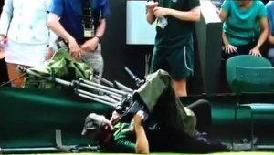 How To Have A Bad Day If You're A Cameraman: Fall And Get Trapped By Your Own Camera