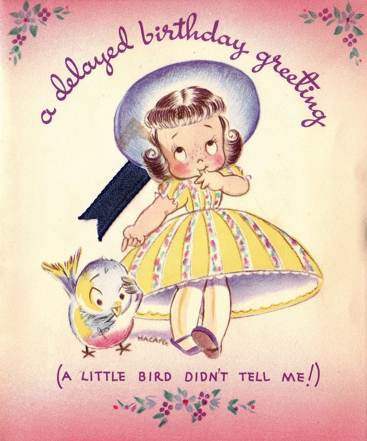 Vintage 1939 Card Via Etsy
