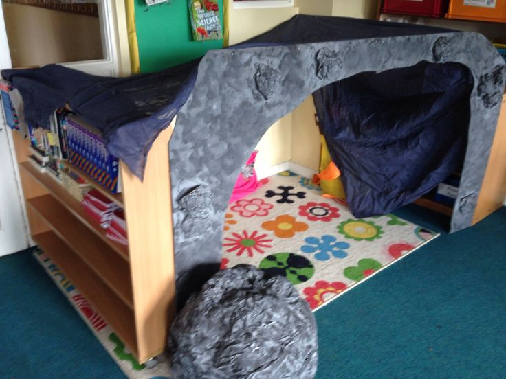 My Stone Age reading corner in Year 6.