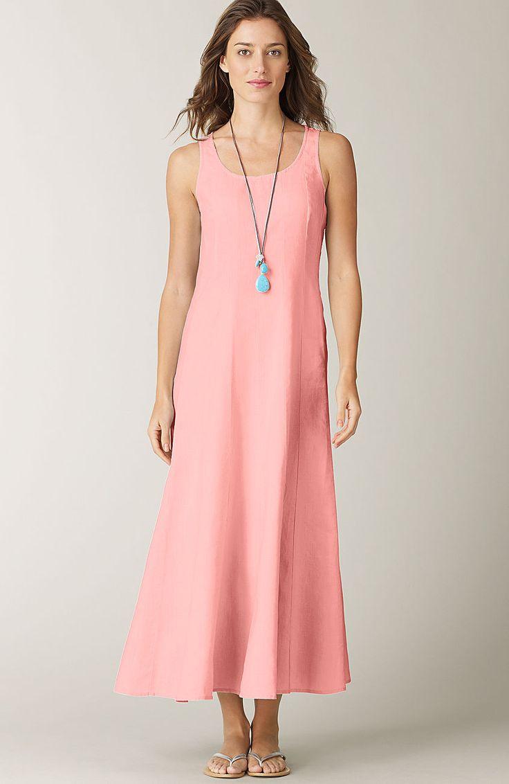 Gt Seamed Linen Dress At J Jill J Jill Pinterest