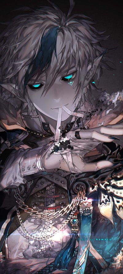 I kill for a living. by kawacy, Anime Fan Art, Digital Painting, Concept, Character Design, Inspirational Art