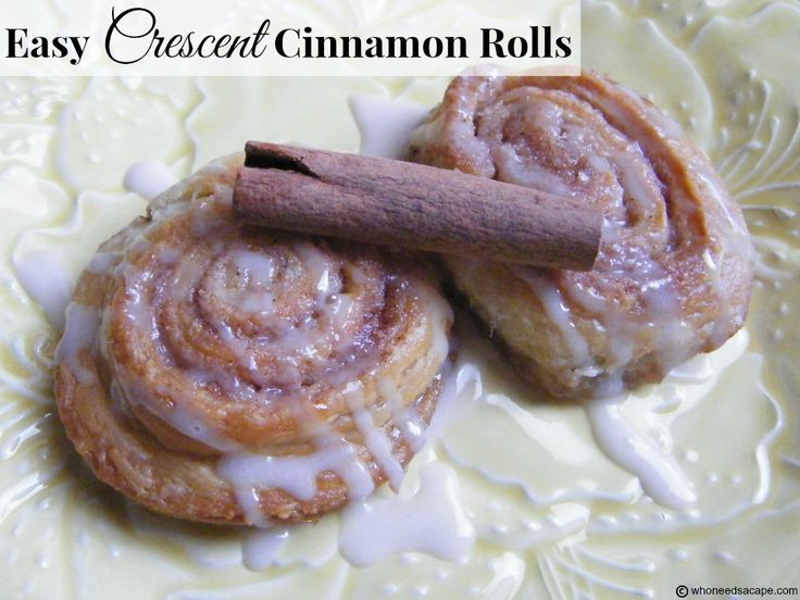Easy Crescent Cinnamon Rolls all the great taste with very minimal prep...so simple!