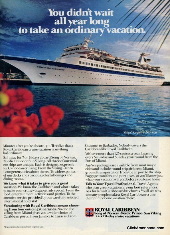 16 best images about throwback print ads on pinterest for Best cruise to take
