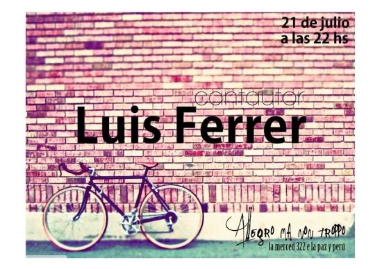 Luis Alberto Ferrer en Allegro ma non troppo