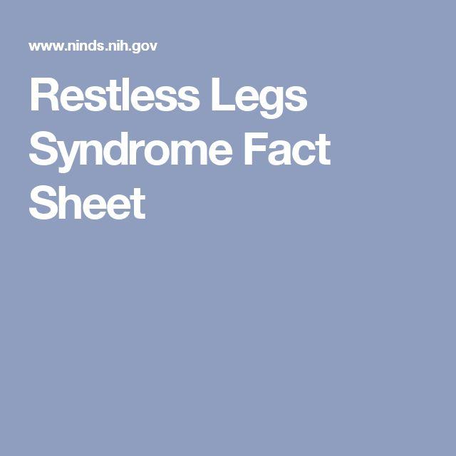 Restless Legs Syndrome Fact Sheet
