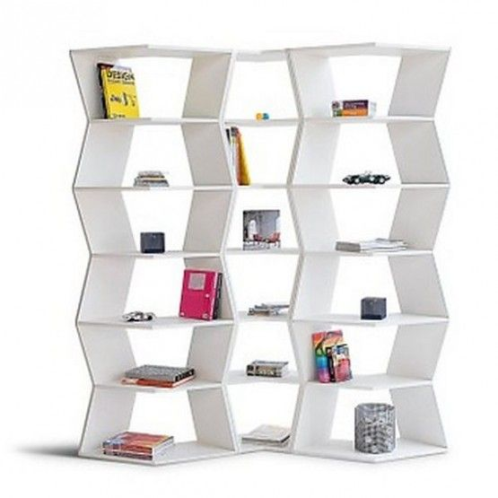 Stylist ZIG ZAG, Flexible Decorating Bookcase Shelving Ideas Elegant  Combination Of Pure White Bedroom Storage Bookshelves Furnitur U2013 Modern  Furniture ...