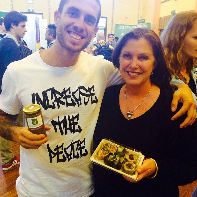 Stoked to have met James Aspey - Voiceless365 at the Sydney Vegan Expo #vegan #vegansushi Green Goodness Love