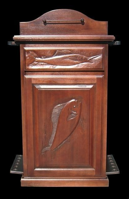 Fishing rod tackle storage cabinet saltwater fish with