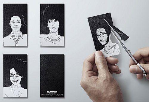 Tendencias para el diseño de tarjetas de visita creativas-peluquerias-originales