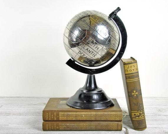 Vintage World Globe Display Globe. $58.00, via Etsy.