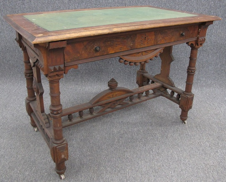 EASTLAKE WALNUT LIBRARY TABLE with drawer height- $500. Victorian FurnitureVictorian  DecorVictorian InteriorsAntique ... - 109 Best Eastlake Style!! Images On Pinterest Antique Furniture